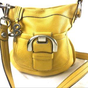 B MAKOWSKY | Yellow leather crossbody bag